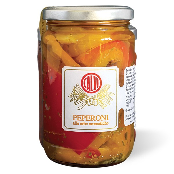 Sweet peppers in olive oil and fine herbs